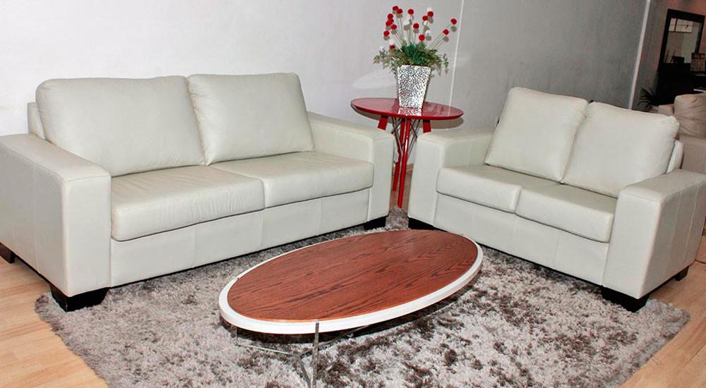 Sofá de Couro Napoli sem costura