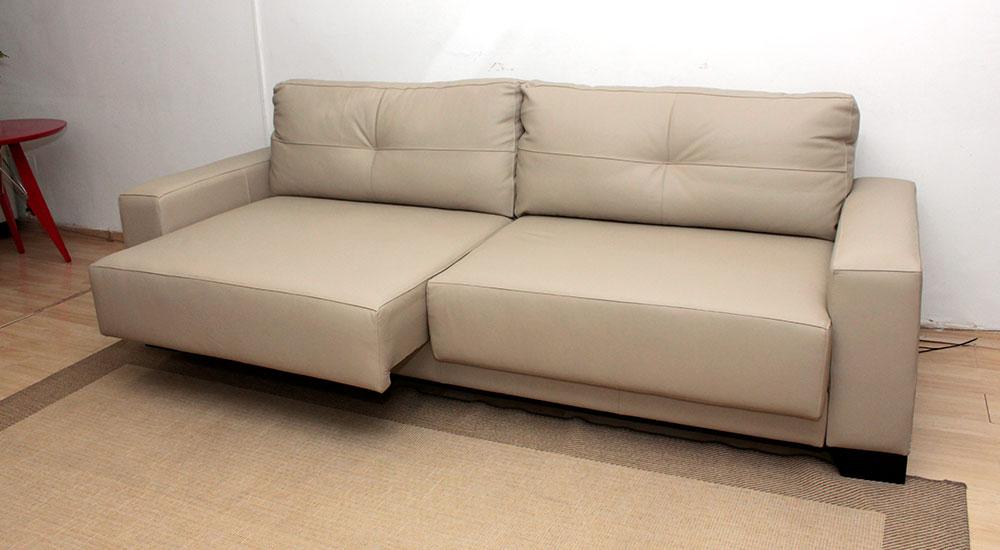 Sof de couro retr til 2 m dulos dubai for Sofas por modulos
